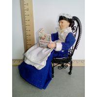 Кресло металлическое (кукольная миниатюра 1:12)