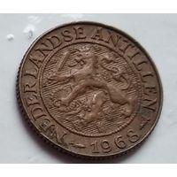 """Нидерландские Антильские острова 1 цент, 1968 Метка """"Рыба"""" 4-4-57"""