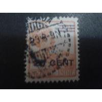 Нидерландская Индия 1921 Колония королева надпечатка 20 на 22 1/2