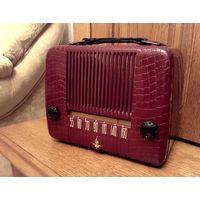 Портативный ламповый радиоприемник Emerson. USA, 1947