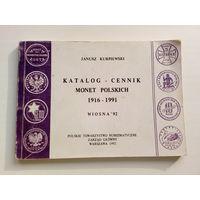 Janusz Kurpiewski Katalog cennik monet polskich. Wiosna 92 // Каталог прайс-лист польских монет