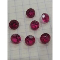 Бабушкиниы украшения рубин-корунд 50-60 г.г