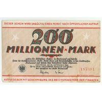 Германия, 200 миллионов марок 1923 год.