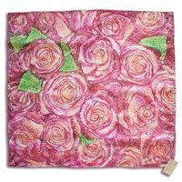 Платок батик шелк  Розовая пенка.
