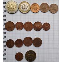"""Подборка монет """"Евро"""" стран Евросаюза. (3,41 евро)"""