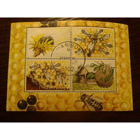 Словения 2001г. Пчеловодство блок