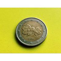 Финляндия. 2 евро 2006 (старый тип - старая карта Европы на реверсе).