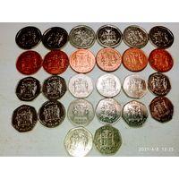 26 монет Ямайки с рубля .