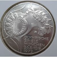 Олимпиада Мюнхен 10 марок .1972 ФРГ.