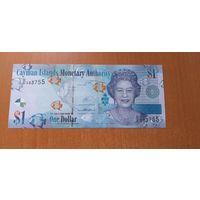 Каймановы острова 1 доллар 2014 года UNC