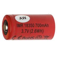 Аккумуляторы AW IMR 18350 LiMn 3.7V 700mAh 1шт  (Li-Mn, Оригинальные)