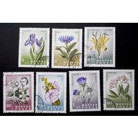 Венгрия 1967 г. Цветы. Флора (150 лет со дня смерти Пола Китаибе), полная серия из 7 марок #0195-Ф1