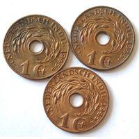 Голландская Ост-Индия, 1 цент 1945 г. Различные монетные дворы.