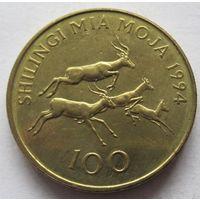 Танзания 100 шиллингов 1994 - состояние!