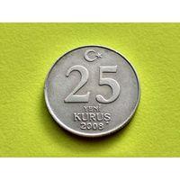 Турция. 25 новых курушей 2008.
