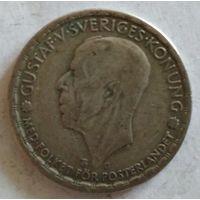 Швеция 1 крона 1942 серебро