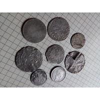 Монеты старинные. Разные. Есть пол франка 1906г!