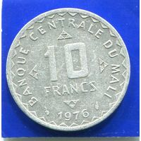 Мали 10 франков 1976 , Рис