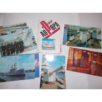 Набор открыток СССР,  Крейсер Аврора