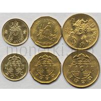 Макао 3 монеты 1993-2010 годов.
