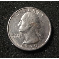 США, 25 центов 1990 D