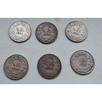 Швейцария 1/2 франка, 1921 7-6-1*6