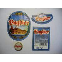 Пиво Bagbier, этикетки+пробка, г.Омск, 2003 год