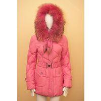 Фирменное тёплое пальто. натуральный мех