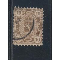 Россия Имп Великое княжество Финляндское 1875 Герб Стандарт #15Ay (1881)