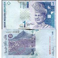 Малайзия 1 ринггит образца 2000 года UNC p39b