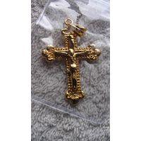Крест, распятие с цепочкой, под золото. распродажа