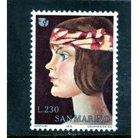 Сан-Марино.Ми-1101.Международный год женщин. 1975.