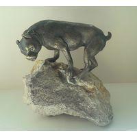 Боксер. Бронза на камне. 1900-1920 г.