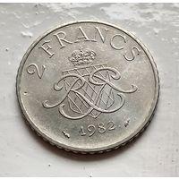 Монако 2 франка, 1982 3-8-17
