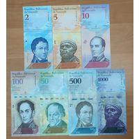 Набор банкнот Венесуэлы - 7 шт - UNC