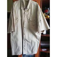Мужские рубашки с коротким рукавом (льняная и хлопковая)