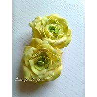"""Лимонные розы-зажимы """"Queen of Sweeden"""""""