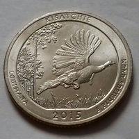 25 центов, квотер США, лес Кисатчи (штат Луизиана), P