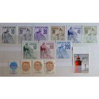 ЛАТВИЯ- Latvia \105\скульптура. надп. 1991\92г. маяк-Mi 326-334,313-316,733D MNH