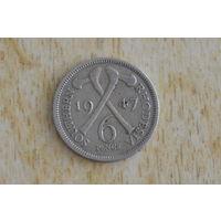 Южная Родезия 6 пенсов 1947