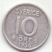 Швеция, 10 эре 1956 года.
