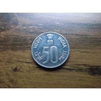 Индия 50 пайс 1989