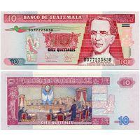 Гватемала. 10 кетцаль (образца 2006 года, P111a, UNC)