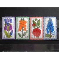 Берлин 1976 Цветы Михель-3,4 евро полная серия