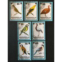 Птицы. Монголия,1979, серия 7 марок