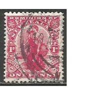 "Новая Зеландия. Доминион. Аллегория ""Зеландия"". 1909г. Mi#123."
