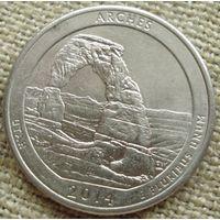 25 центов 2014 США - Арка
