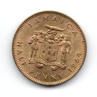 КОРОЛЕВСТВО  ЯМАЙКА. 1/2 ПЕННИ 1964