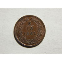 Австро-Венгрия 5/10 крейцерв 1881г