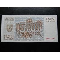 ЛИТВА 500 ТАЛОНОВ 1993 ГОД UNC